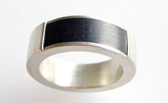 Jewellery for men - 925- Silber, Ebenholz