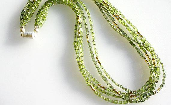 Necklaces and Pendants - 925- Silber, Feingold, Peridot
