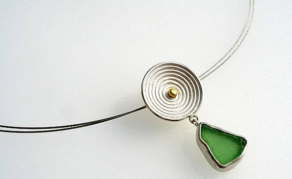 Necklaces and Pendants - 925- Silber, Feingold, Glas
